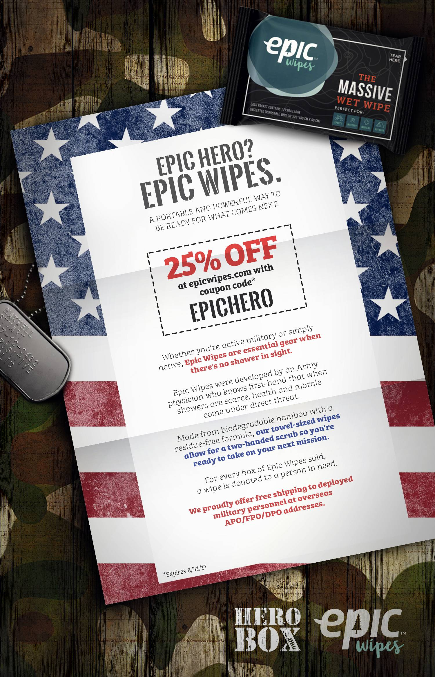 Epic Wipes Partnership!