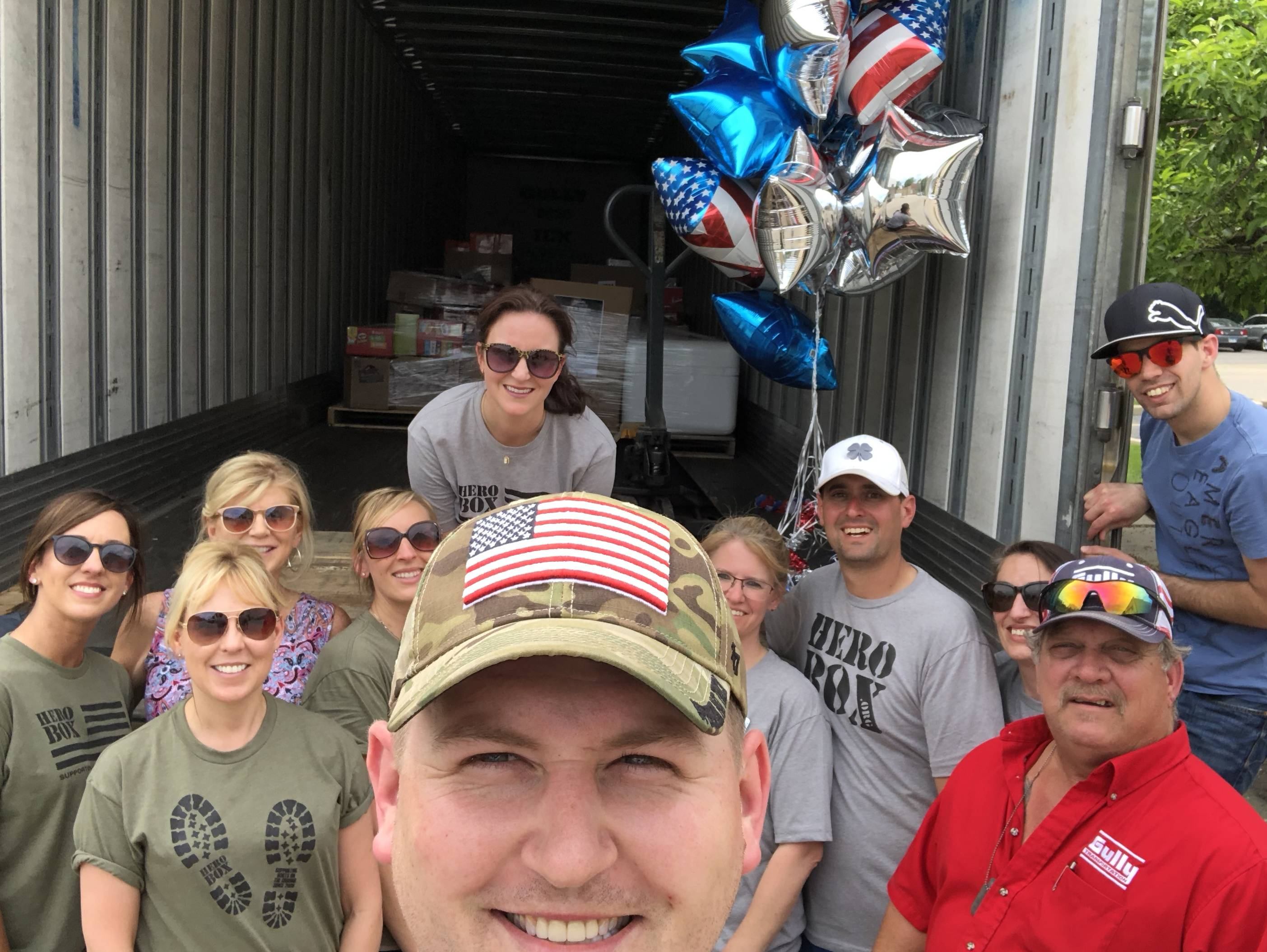 CHAD GILBRETH AND HIS TEAM SENDS 320 HEROBOX CARE PACKAGES